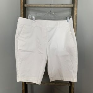 Ann Taylor White Boardwalk Shorts